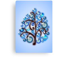 Blue Glass Ornaments Canvas Print