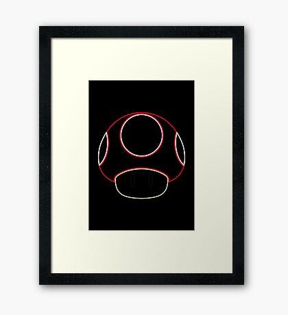 Minimalist Mario Mushroom Framed Print