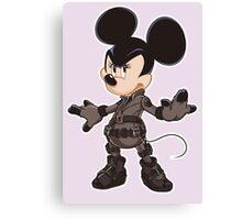 Black Minnie Canvas Print