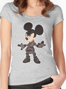 Black Minnie Women's Fitted Scoop T-Shirt