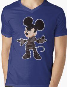 Black Minnie Mens V-Neck T-Shirt