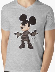 Black Minnie Mens V-Neck T-Shirt