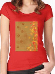 Autumn walk Women's Fitted Scoop T-Shirt