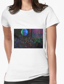 Crowd dancing Womens Fitted T-Shirt