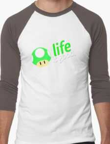 Life is Good Men's Baseball ¾ T-Shirt