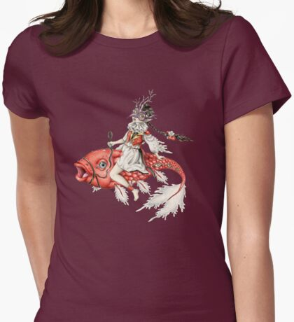 Red Fish Womens Fitted T-Shirt