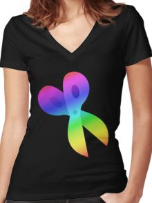 MLP - Cutie Mark Rainbow Special – Snips Women's Fitted V-Neck T-Shirt