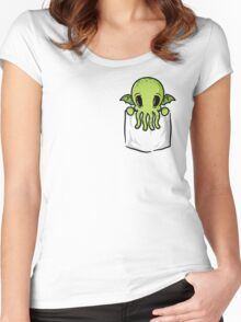 Pocket Cthulhu Women's Fitted Scoop T-Shirt