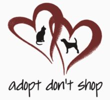 ADOPT DON'T SHOP (red) One Piece - Short Sleeve