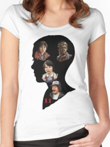 Stranger Things Poster Eleven Women's Fitted Scoop T-Shirt