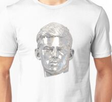 Sebastian (relic) silver on white Unisex T-Shirt