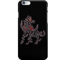 Okami Amaterasu - Cherry Blossom Form [BLACK] iPhone Case/Skin