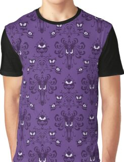 Haunted Mansion Pattern Graphic T-Shirt