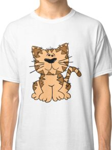 Cartoon Cat Sitting Art Classic T-Shirt