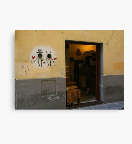 Two Hearts in Florence Canvas Print