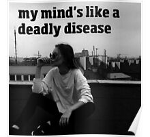 My Mind's Like A Deadly Disease - Control - Halsey - Lyrics Poster