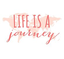 Life is a journey, world map Photographic Print