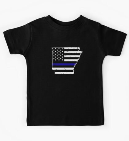 Arkansas Thin Blue Line Police Kids Tee