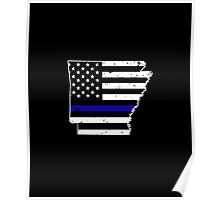 Arkansas Thin Blue Line Police Poster