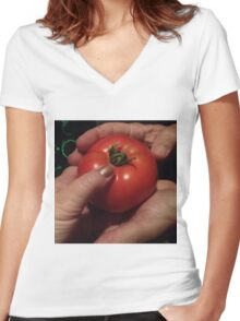 Organic Touch Women's Fitted V-Neck T-Shirt