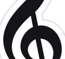 Three hand drawn treble clefs music Sticker