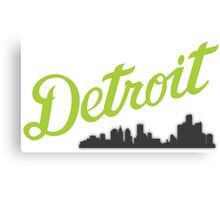 I'm from Metro Detroit Canvas Print