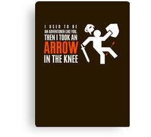 Arrow in the Knee Canvas Print