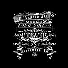 Typography Talk Like a Pirate Day by Greenbaby