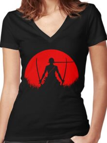 zoro Women's Fitted V-Neck T-Shirt
