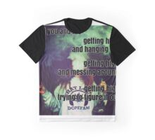 You And Me Getting High - Historic Cemetery - The Front Bottoms - Lyrics Graphic T-Shirt