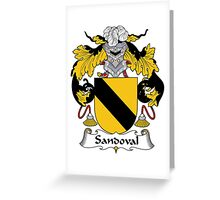 Sandoval Coat of Arms/Family Crest Greeting Card