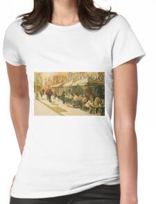 Cafe Snapshot Womens Fitted T-Shirt