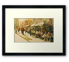 Cafe Snapshot Framed Print