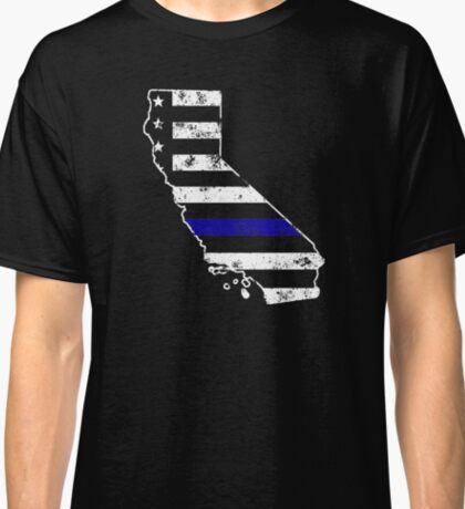 California Thin Blue Line Police Classic T-Shirt
