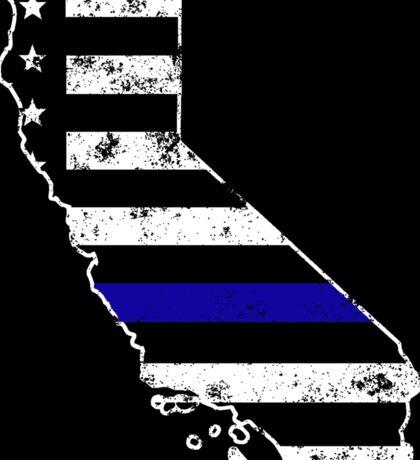 California Thin Blue Line Police Sticker