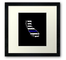 California Thin Blue Line Police Framed Print