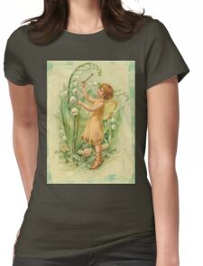 Fairy,flowers,angel,rustic,grunge,collage,wings,romantic Womens Fitted T-Shirt