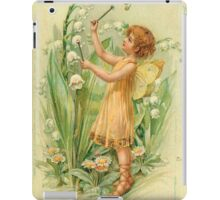 Fairy,flowers,angel,rustic,grunge,collage,wings,romantic iPad Case/Skin