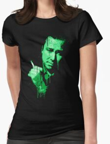 Bill Hicks (green) Womens Fitted T-Shirt