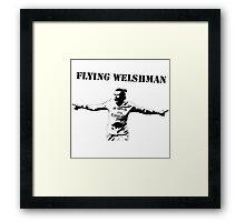 Gareth Bale - Flying Welshman Framed Print