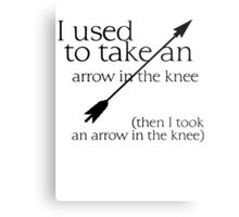 Arrow in the knee - 1 Metal Print