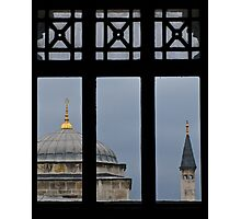 minaret through the window- Istanbul Photographic Print