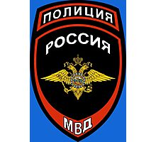Russian Police Insignia Photographic Print