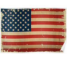 US Flag VINTAGE Poster