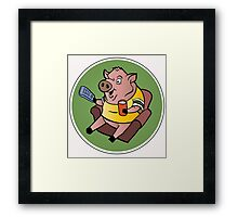 The Sports Pig Framed Print
