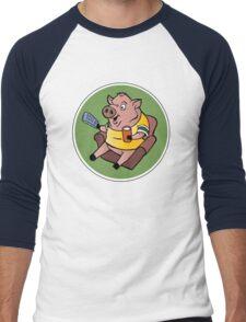 The Sports Pig Men's Baseball ¾ T-Shirt