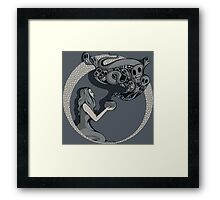 Opening The Box Framed Print