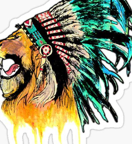 Lion Warrior Sticker