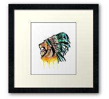 Lion Warrior Framed Print