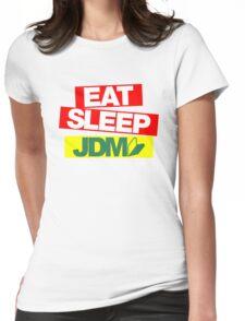 Eat Sleep JDM wakaba (1) Womens Fitted T-Shirt